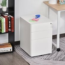 Vinsetto Fully Assembled 3 Drawer Steel Metal