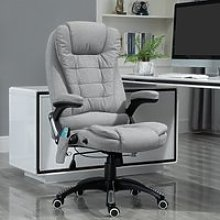 Vinsetto Heated Massage Recliner Office Chair