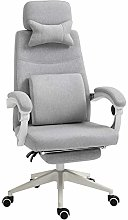 Vinsetto Home Office Chair w/Manual Footrest