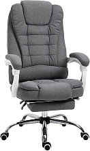 Vinsetto Large Padded Office Chair w/ Footrest