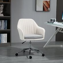 Vinsetto Leisure Office Chair Linen Fabric Swivel