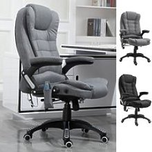 Vinsetto Massage Office Chair 130° Reclining