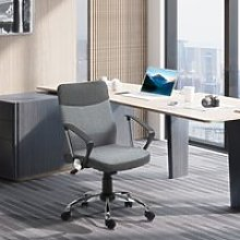 Vinsetto Office Chair Linen Fabric Swivel Computer