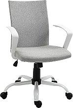 Vinsetto Office Chair Linen Swivel Computer Desk