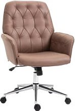 Vinsetto Tufted Desk Chair w/ Arm Rest on Wheels