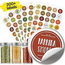 Vinta Quick-find Spice Jar Labels Stickers 38mm