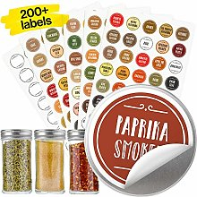 Vinta Quick-find Spice Jar Labels Stickers 38mm