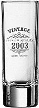 Vintage 2003 18th Birthday Shot Glass