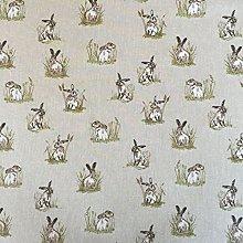 Vintage Animals Hares Cotton Rich Linen Look
