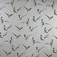 Vintage Animals Pheasant Cotton Rich Linen Look