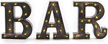 Vintage BAR Light Up Sign Brown - Pukkr