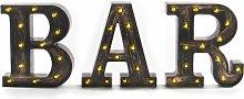 Vintage BAR Light Up Sign   Pukkr - Brown