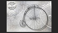 Vintage Bicycles Black and White 2.1m x 300cm