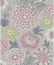Vintage Bloom Raspberry Wallpaper 676207 - Arthouse
