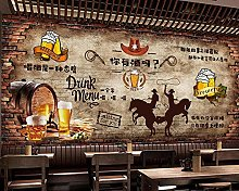 Vintage Brick Wall Beer Bar Restaurant Background