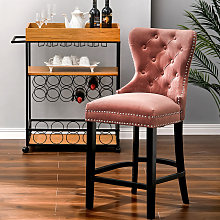 Vintage Buttoned Studded Counter Seat Breakfast