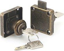 Vintage Cabinet Door Locks with Keys, Retro Square