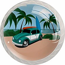 Vintage Car Beach Glass Cabinet Knobs Knobs for