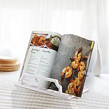 Vintage Cast Iron Cookbook Stand Holder White