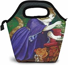 Vintage Cat Insulated Lunch Bag Custom Bento Box
