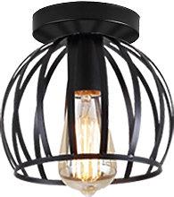 Vintage Ceiling Light Black Round Chandelier