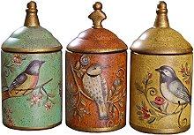 Vintage Ceramic Kitchen Canister Jars Storage