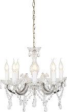 Vintage chandelier transparent 8-light - Marie