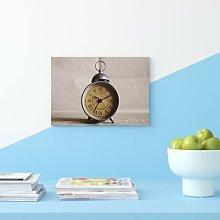 Vintage Clock Photographic Print on Canvas Big Box