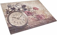 Vintage Clock Pink Glass Placemat Kitchen Table