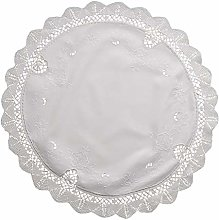 Vintage Cluny Lace Table Topper Traditional Dining