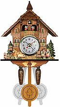 Vintage Cuckoo Wall Clock, Antique Wooden