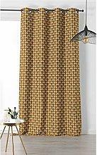 Vintage Design Curtain Yellow