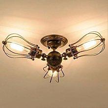Vintage Designer Ceiling Lamp Black Round Iron