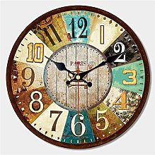 Vintage Dishes Design Large Wall Clock Creative