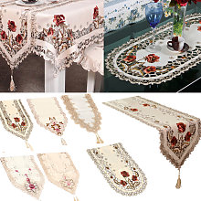 Vintage Embroidered Lace Yarn Tablecloth Table