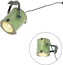 Vintage film spot wall and ceiling lamp green -
