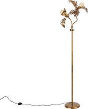 Vintage floor lamp gold 2-light - Botanica