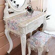 Vintage Floral Lace Table Runner, Dressing Table