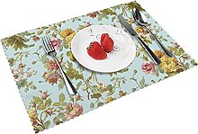 Vintage Floral Pattern Cool Hd Table mat 4 piece