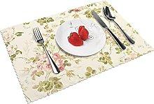 Vintage Flower Background Table mat 4 piece