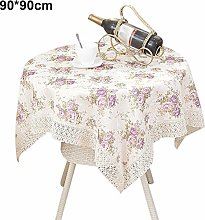 Vintage Flower Printed Tablecloth,Home Hotel
