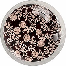 Vintage Flowers Floral Pattern Drawer Knobs Pulls