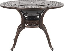 Vintage Garden Outdoor BBQ Dining Table Brown