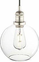Vintage Globe Glass Pendant Light Fitting,