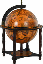 Vintage Globe Wine Cabinet Wood Globe Drink