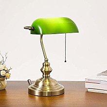Vintage Green Banker Desk Lamp Metal Banker Lamp
