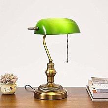 Vintage Green Banker Lamp Nostalgic Retro Desk