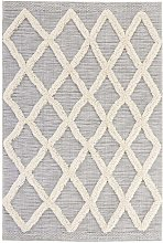 Vintage Handira Carpet Ayoun Cream Grey 77 x 150cm