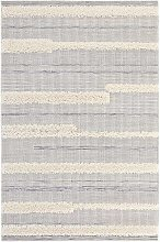 Vintage Handira Carpet Ifrane Cream Grey 77 x 150cm