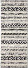 Vintage Handira Carpet Sebou Cream Black Runner 80